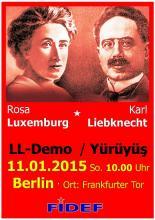Lenin-Liebknecht-Luxemburg Yürüyüşüne Çağrı