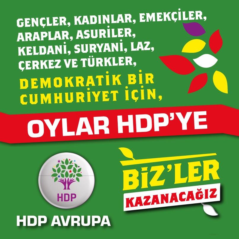 Oylar HDP'ye